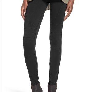 BP Stretch Cotton Moto Leggings Black/Gray